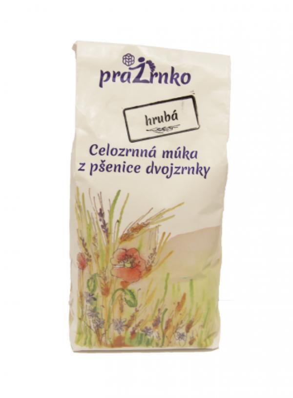 Celozrnná múka hrubá z ekologicky pestovanej pšenice dvojzrnky 1kg