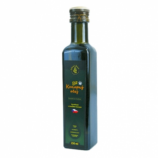 Konopný olej BIO za studena lisovaný 250ml