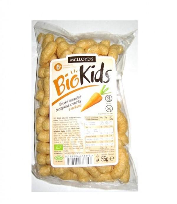 Kukuričné chrumky s mrkvou bio 55g