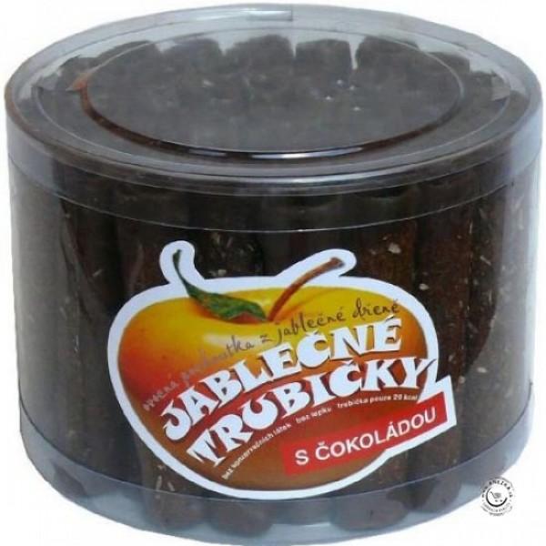 Jablčné trubičky s čokoládovou polevou - dóza 45ks