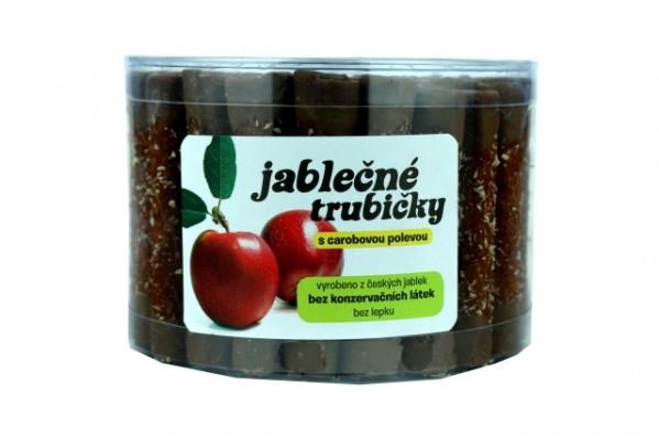 Jablčné trubičky polomáčané v karobe 450g dóza