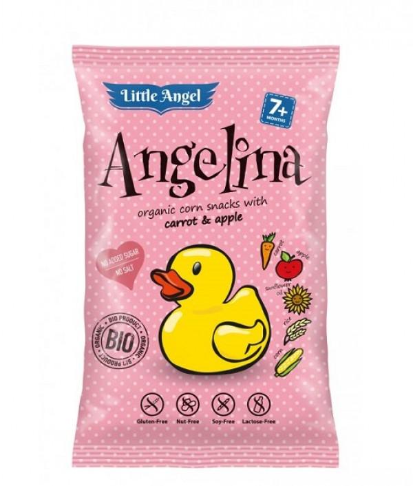 Chrumky kukuričné Angelina mrkva jablko BIO 30g