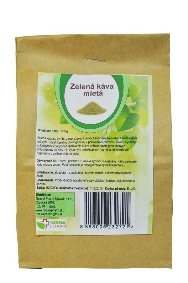 Zelená káva - mletá 250 g